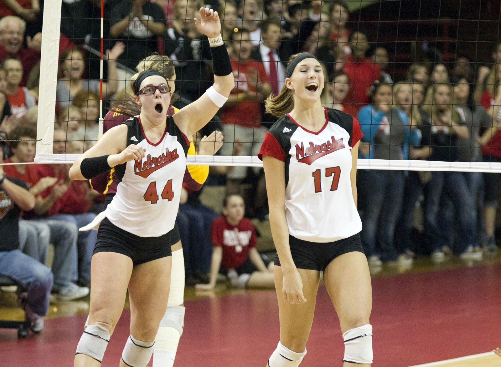 Few Huskers Know How To Own A Celebration Like Hannah Werth Whose Been Known To Do A Jump Kick Or Two If The Block Is Big Enough