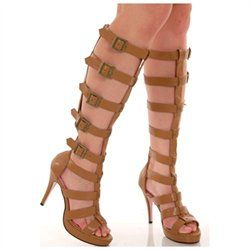 #Leg Avenue               #ApparelFootwear          #Buckle #Strap #Roman #Gladiator #Knee #High #Sandal #Boots                   Tan Buckle Strap Roman Gladiator Knee High Sandal Boots                                                 http://www.snaproduct.com/product.aspx?PID=7936411
