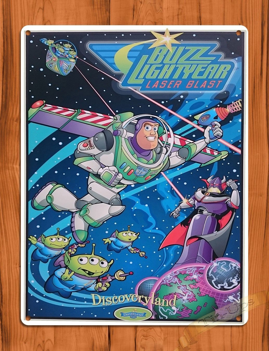 Disney Buzz Lightyear Poster I want you to join Space Rangers Vintage Disney Toy Story Attraction Posters Magic Kingdom Disneyland Disney World Home Decor Wall Art