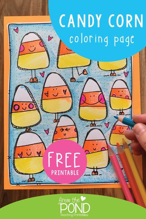 Candy Corn Coloring Page | Candy corn, Coloring pages ...