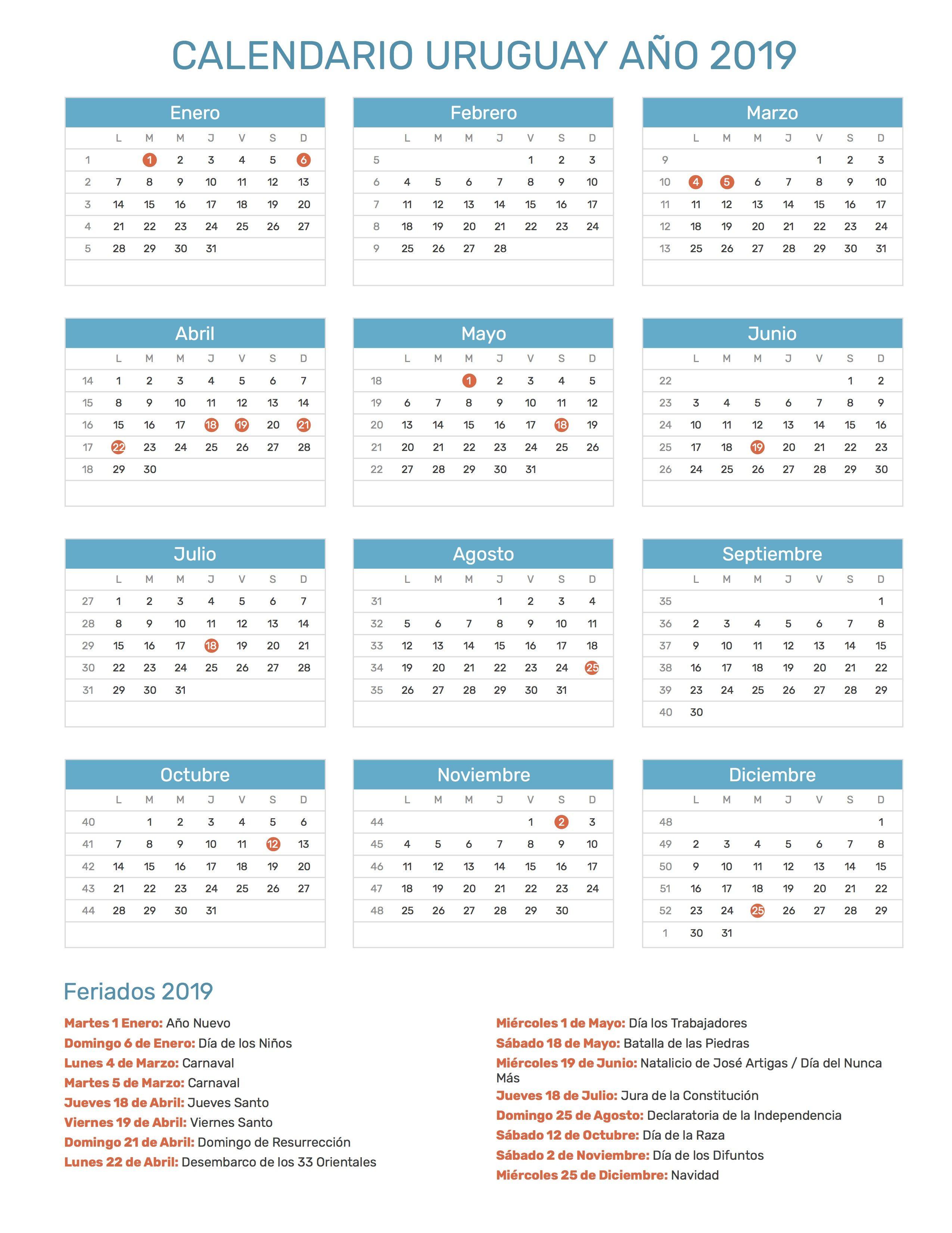 Calendario 2019 Chile Con Feriados Pdf.Pin De Calendario Hispano En Calendario Con Feriados Ano