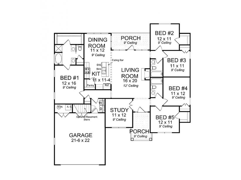Eplans craftsman house plan five bedrooms under 2000 for Eplans floor plans