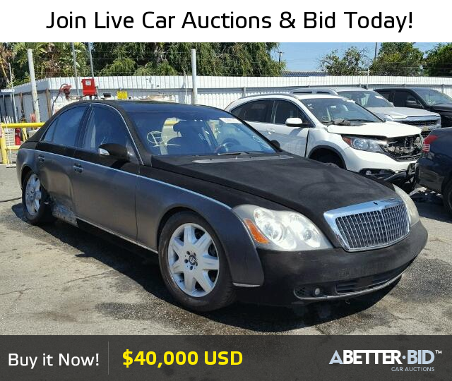 Salvage 2005 MAYBACH MAYBACH For Sale