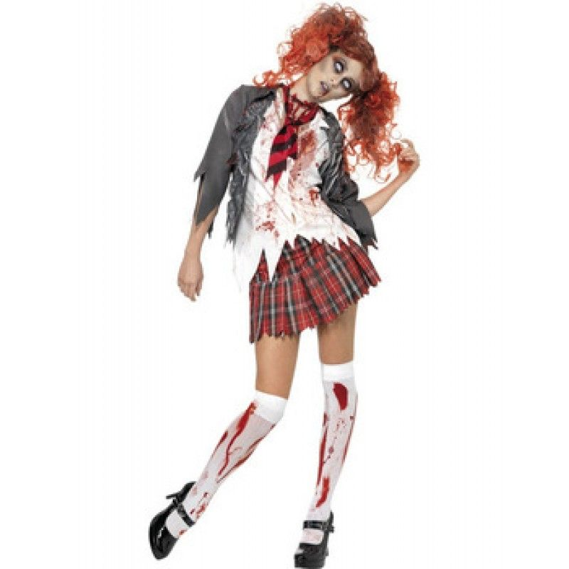 High School Horror Zombie Schoolgirl Costume | HALLOWEEN PARTY ...