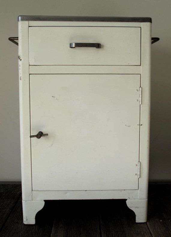 Vintage Industrial Metal Medical Cabinet | Vintage | Pinterest ...