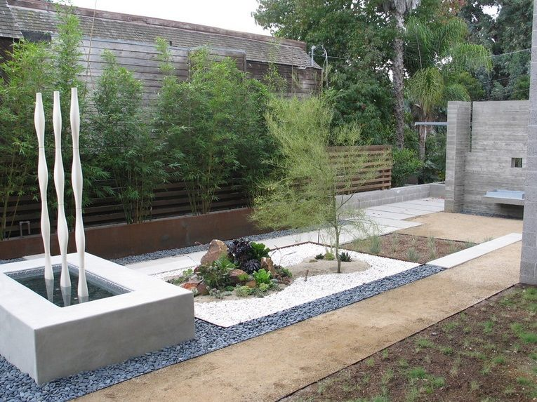 Jardines modernos minimalistas con piedras exteriores for Jardines modernos minimalistas