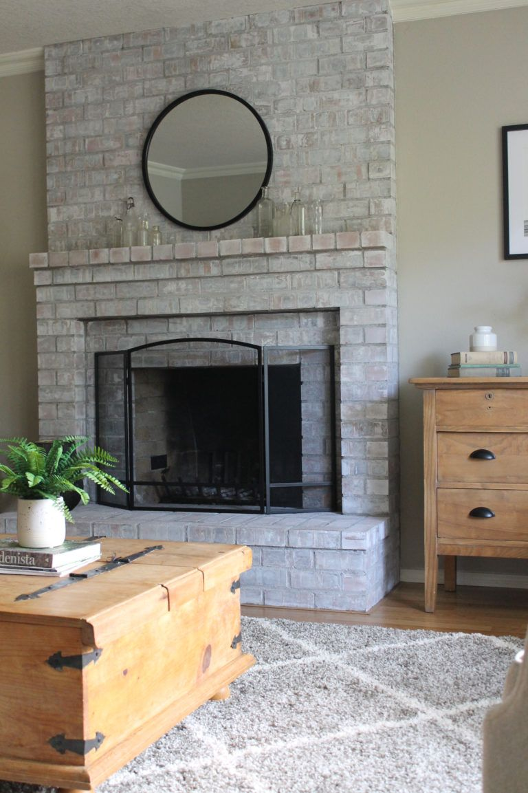 3 Tips for Creating a Modern Whitewashed Fireplace White