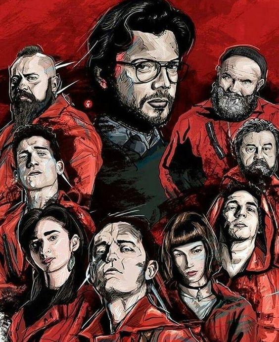 La Casa De Papel Wallpapers Hd In 2020 Movie Poster Art Sketches Cellphone Wallpaper