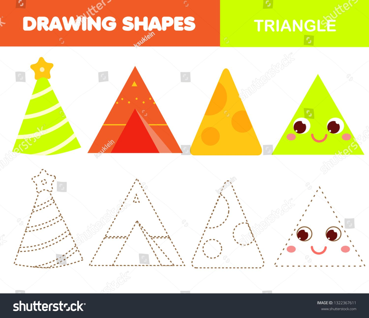 Learning Geometric Shapes For Kids Triangle Objects