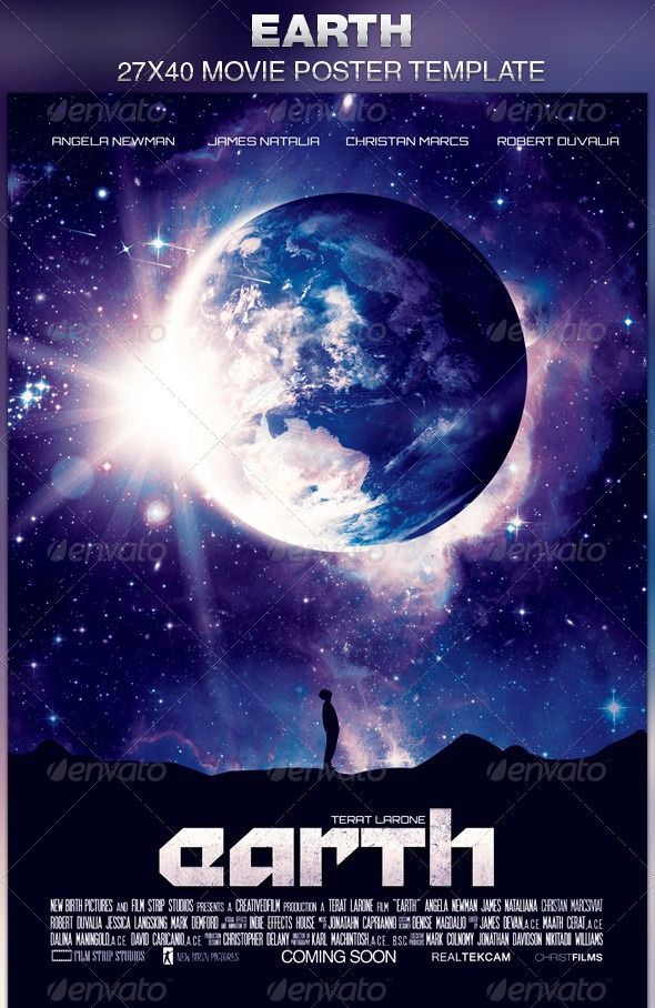Earth Movie Poster Template Download  Earth Movie Poster Template