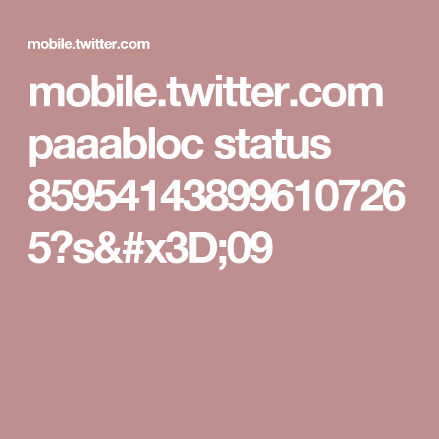 mobile.twitter.com paaabloc status 859541438996107265?s=09