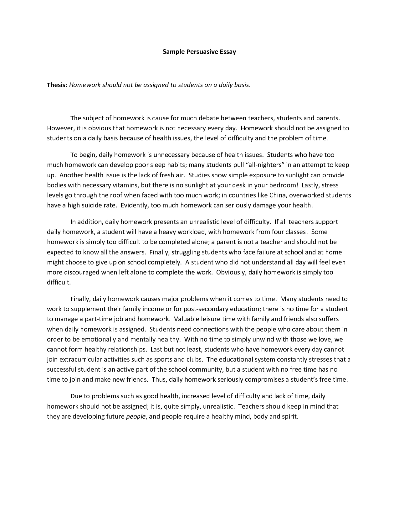 5 paragraph persuasive essay on smoking