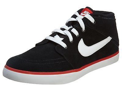 9dbfa25cc6a10 NIKE SUKETO 2 MID LEATHER MENS 654488-016 Black Casual Shoes Sneakers Size  11.5