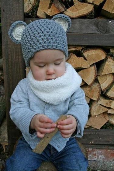 Mäuschen Mütze - Häkelmütze soooo süß | Handarbeiten | Pinterest ...