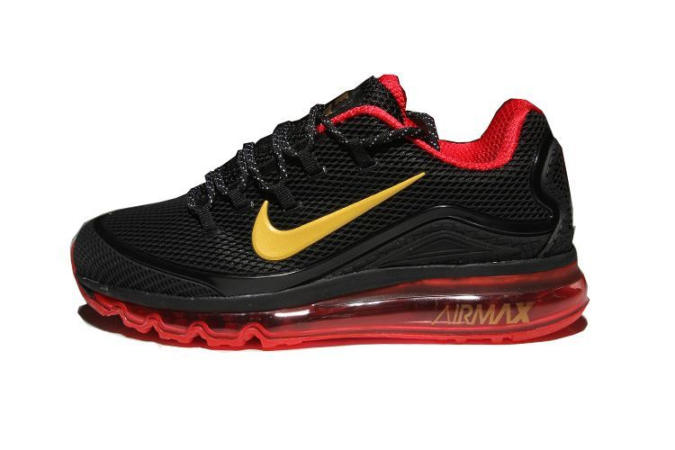 f195616df3f74 Men s Nike Air Max 2018 Elite KPU TPU Shoes Black Red Gold