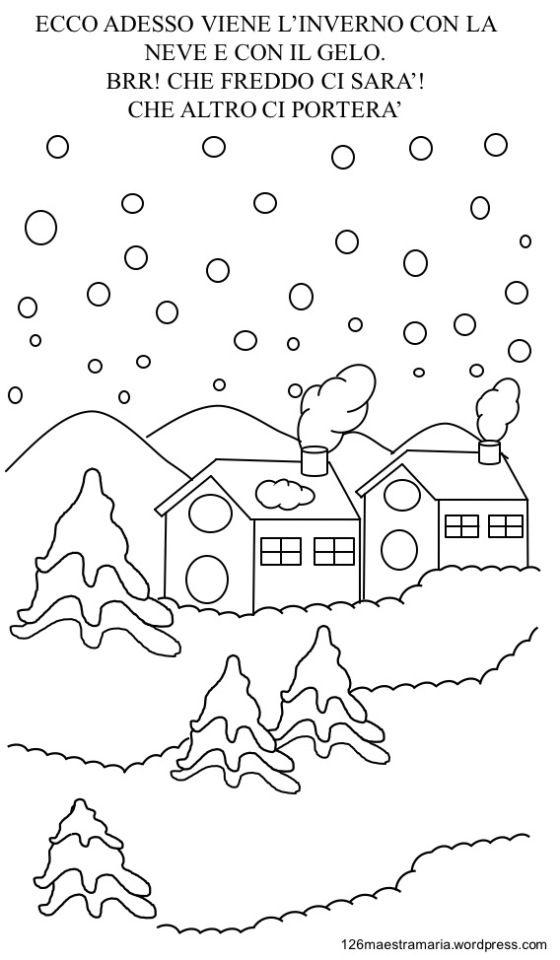 Inverno Da Colorare Per Bambini