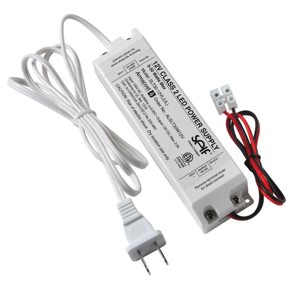 B Armacost Lighting 30 Watt 12 Volt Dc Led Lighting Power Supply Slt30 12vl Ul The Home Depot