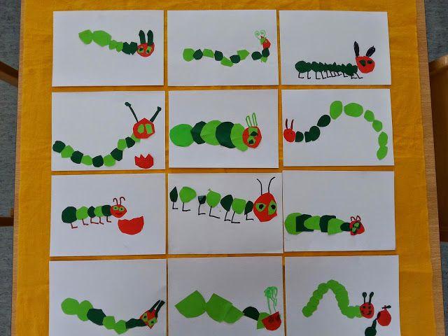 R eblikrokodil raupe nimmersatt kunst pinterest raupe nimmersatt raupe und nimmersatt - Raupe basteln kindergarten ...