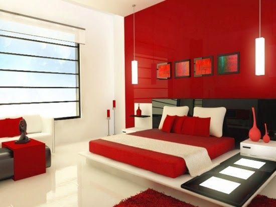 intérieur rouge et blanc | Décoration chambre avec rouge et blanc ...