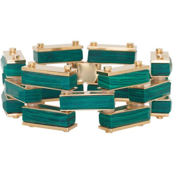 Lele Sadoughi Garden Fence Bracelet (¥36,000) ❤ liked on Polyvore featuring jewelry, bracelets, black jewelry, kohl jewelry, yellow gold jewelry, bracelet bangle and black gold bracelet