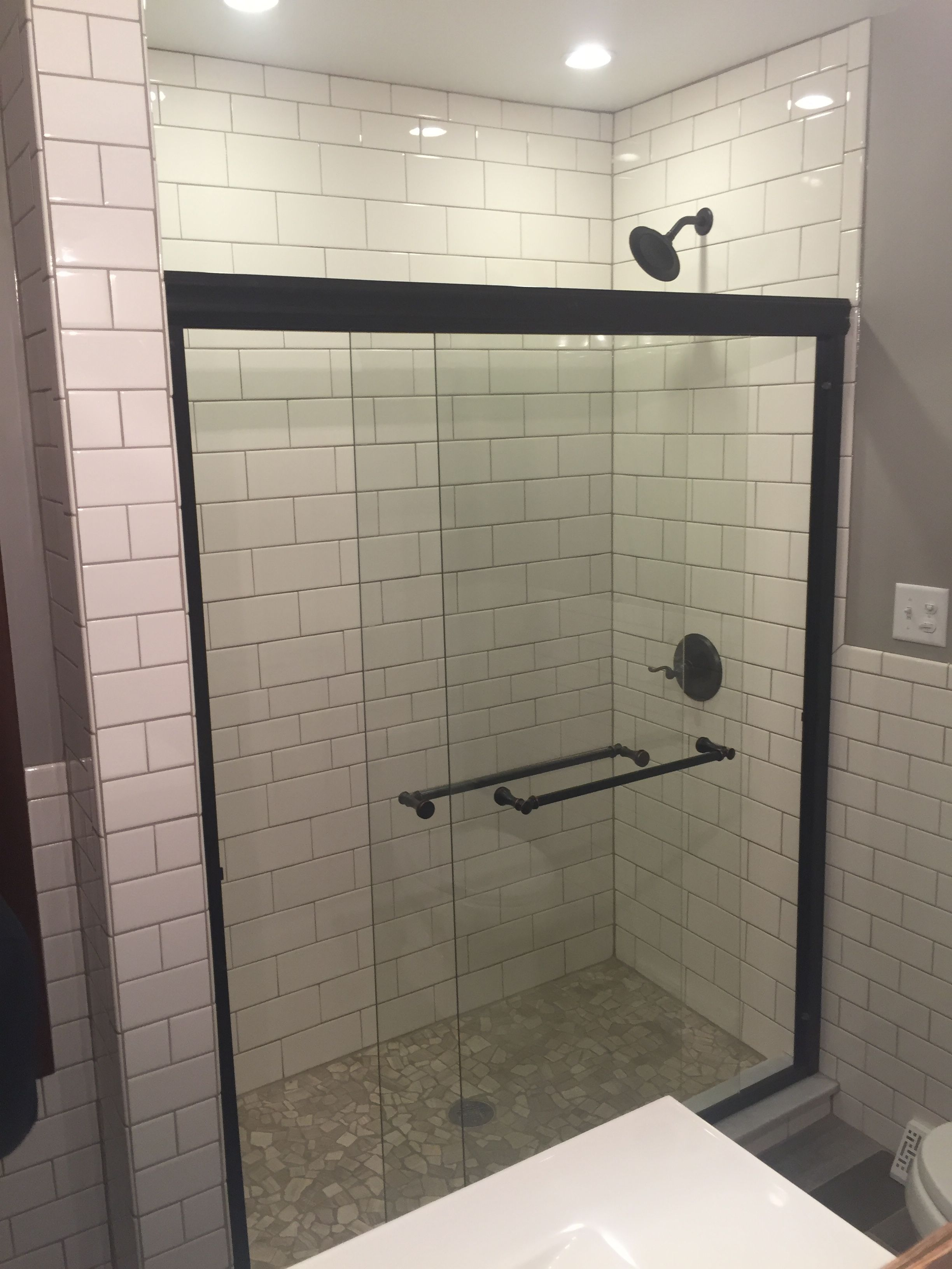 Reclaimed subway tile choice image tile flooring design ideas remodel modern rustic bathroom with white subway tile and remodel modern rustic bathroom with white subway dailygadgetfo Images