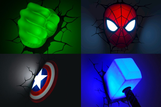 Marvel superheroes light up your life with wall shattering led decor marvel superheroes light up your life with wall shattering led decor aloadofball Image collections