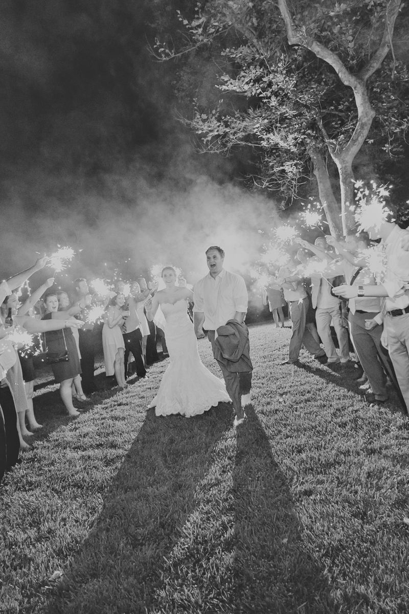 Sparkler Send off!  Mike Arick Photography