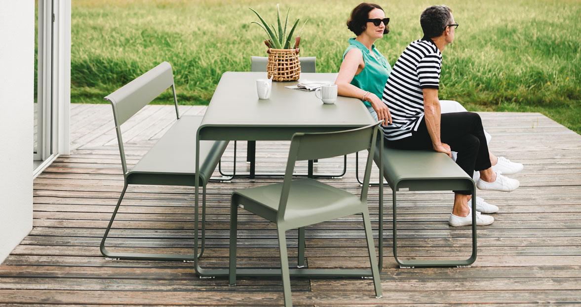 mobilier de jardin, banc metal, banc de jardin, ensemble de jardin ...