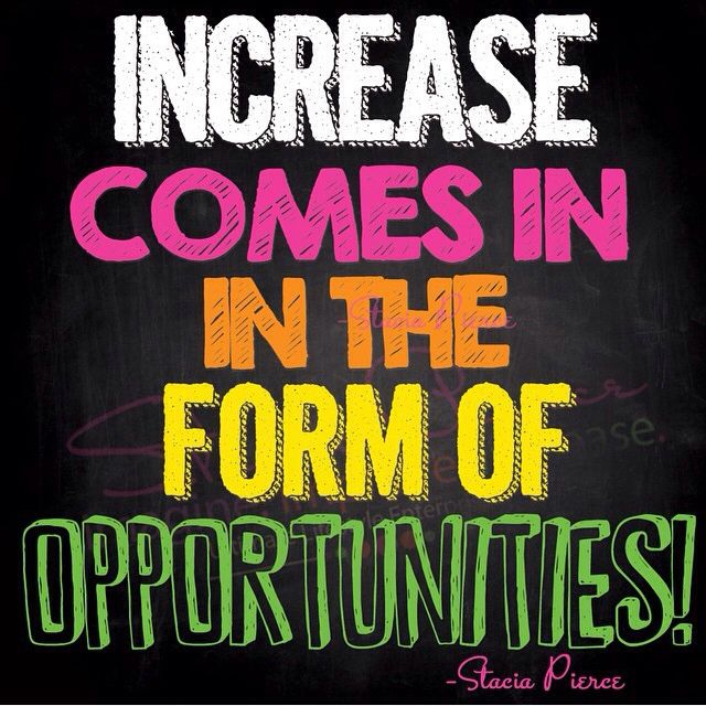 Happy happy Wednesday Increase comes in the form of Opportunities - pay increase form