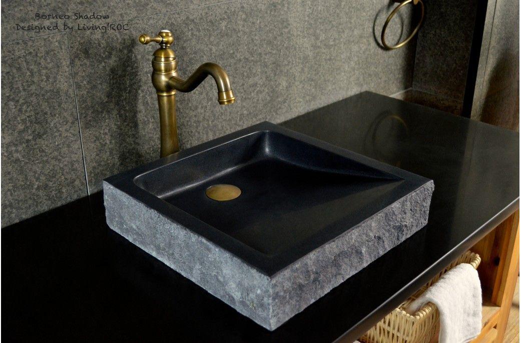 16 Black Bathroom Sink Granite Stone Basin Borneo Shadow Black Bathroom Sink Black Bathroom Sink