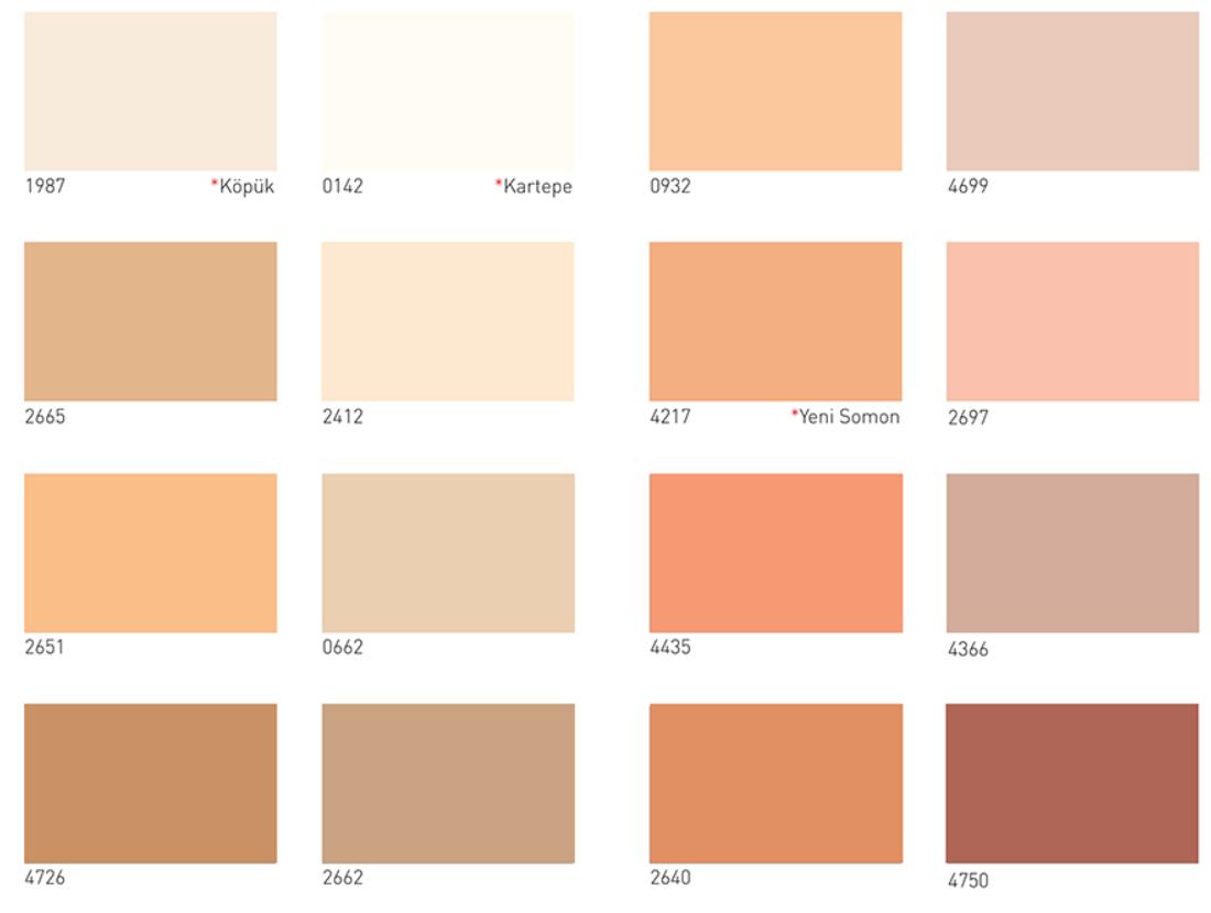 Kartela5dyo 2020 Boya Renkleri Renkler Evler