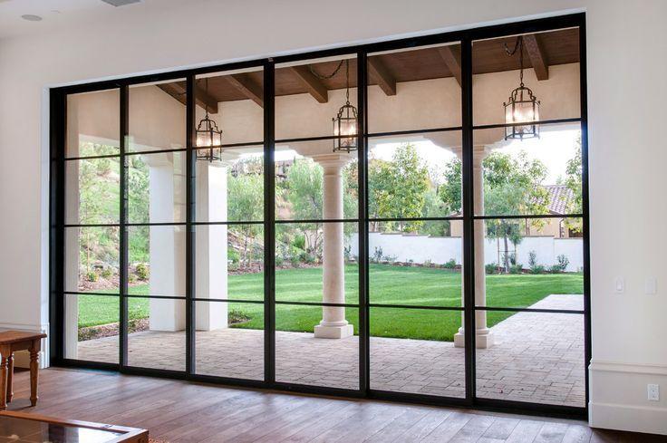 Doors Steel French Patio Single Door Modern Sliding Gl With Black Frame Lantern Pendant Lamps Inspiring