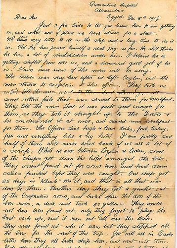 Letter | Letter from World war 1 | Pinterest