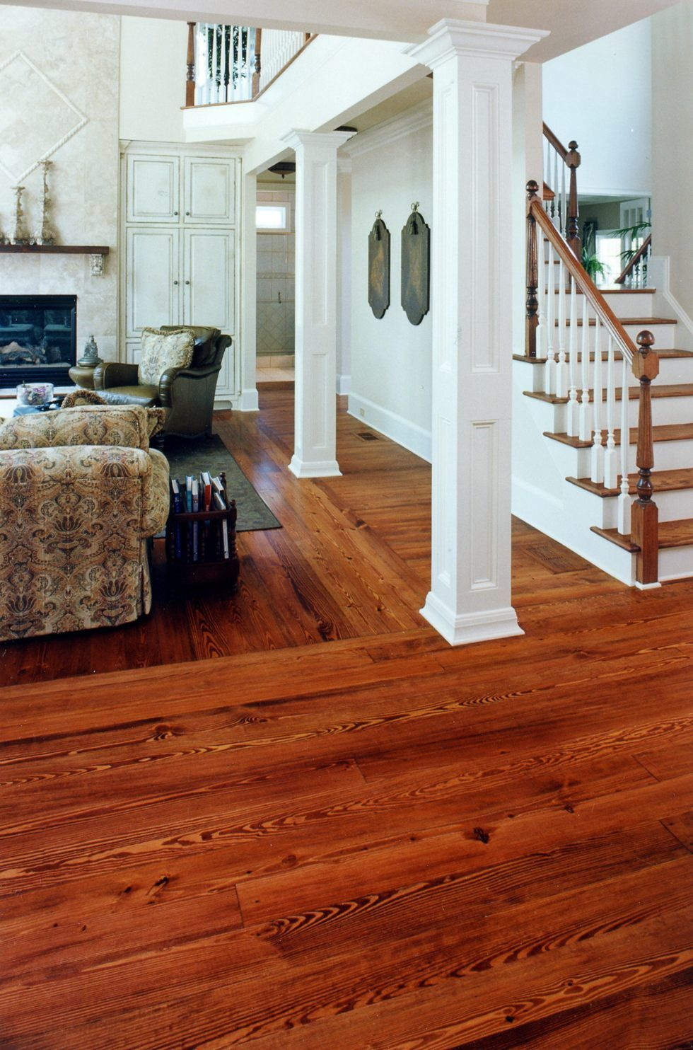 Unlike most floors authentic Heart Pine gets more colorful