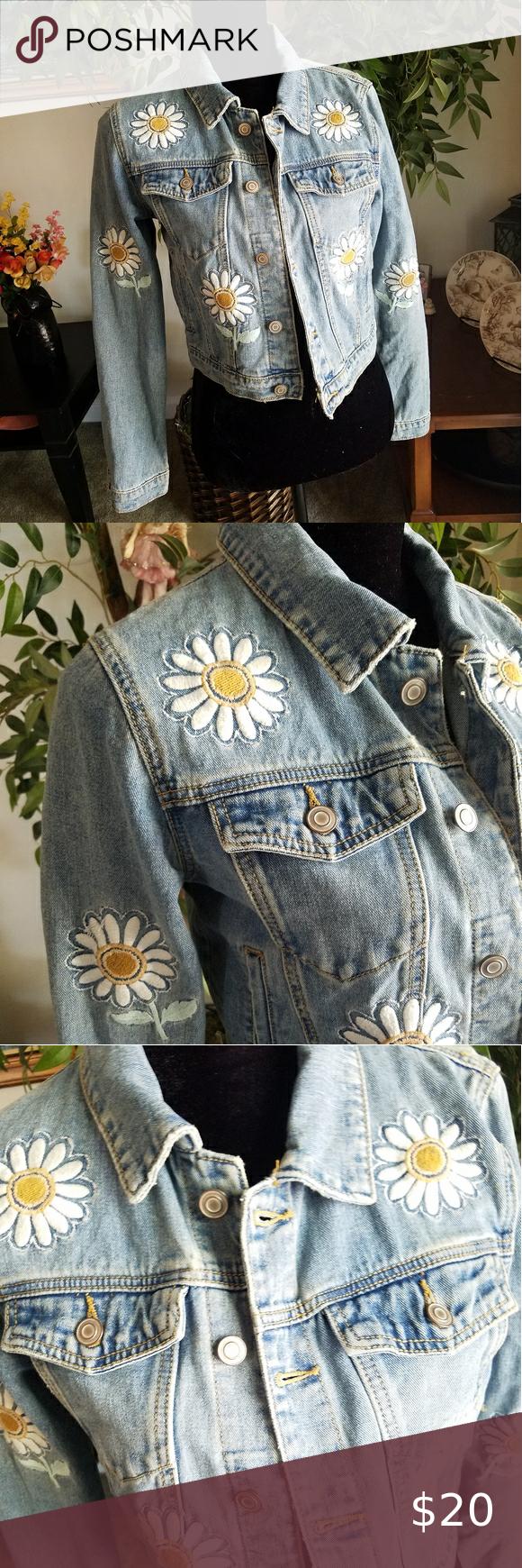 Forever 21 Daisy Jean Jacket Jackets Jean Jacket Jackets For Women [ 1740 x 580 Pixel ]