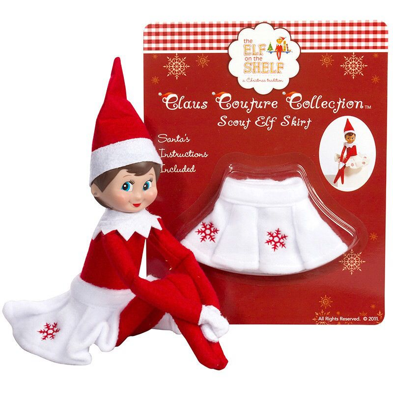 This Girl Elf On The Shelf Is Wearing A Lovely Snowflake Skirt Out