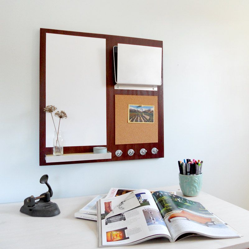 message center: cork board magnetic white board, home office dorm