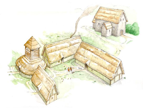 Archeologist Professor John Blair's hypothesis regarding the medieval roots of Fowlmere's past.