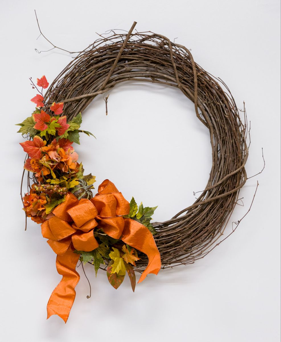 Easy Bow Making How to make bows, Diy fall wreath, How
