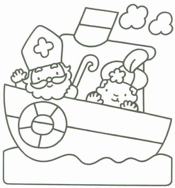 Kleurplaten Sinterklaas Babypiet.Kleurplaten Sinterklaas Baby Nvnpr