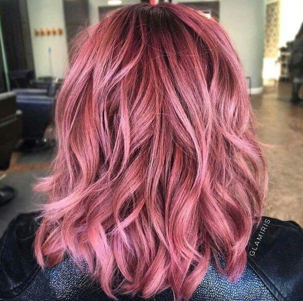 nice dusty rose color hair