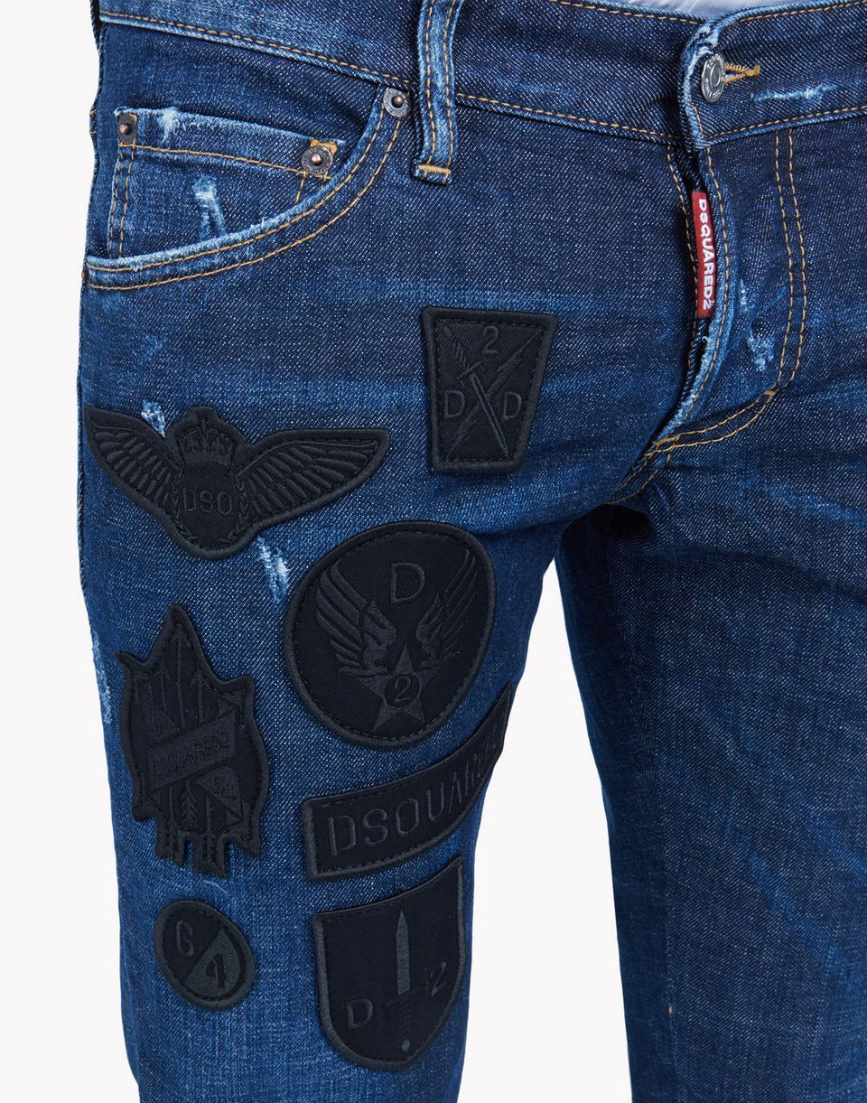 c289a7893f8 military patches clement jeans denim Man Dsquared2 | Just Jeans ...