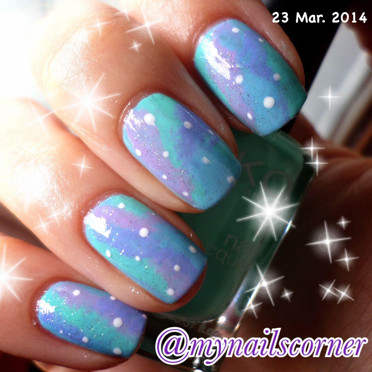 My first galaxy nails!!! So proud!!!!!! | Nail art/Nail color ...