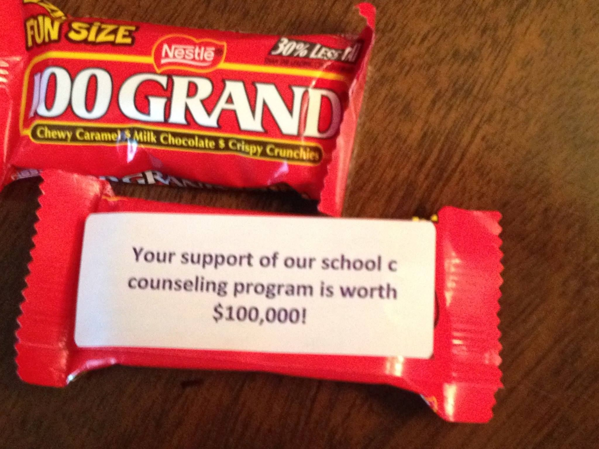 An idea to show appreciation for your teachers during NSCW.