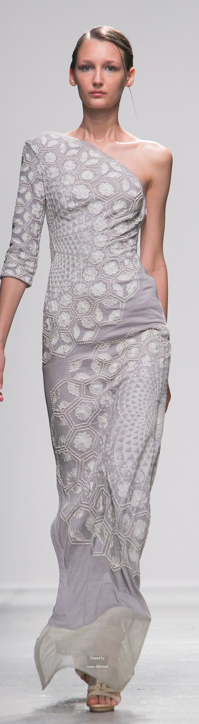The stylised oriental embroideries by Indian designer RAHUL MISHRA, Spring 2015
