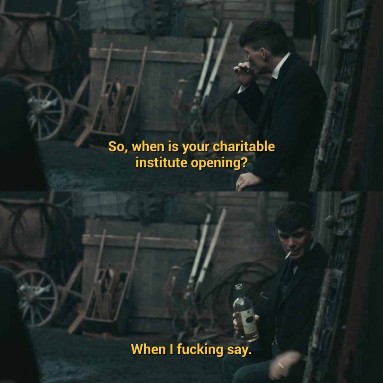 Thomas Shelby Is Such A Savage Peakyblinders Peaky Blinders