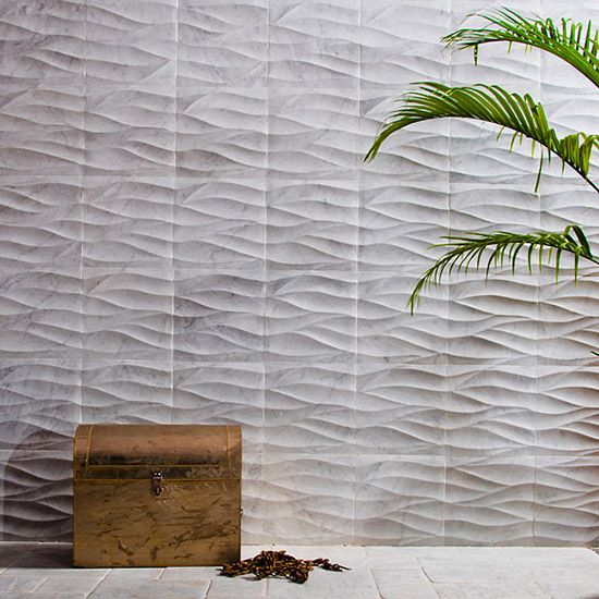 Dimensional tile-- we love it! Available at Decorative Materials