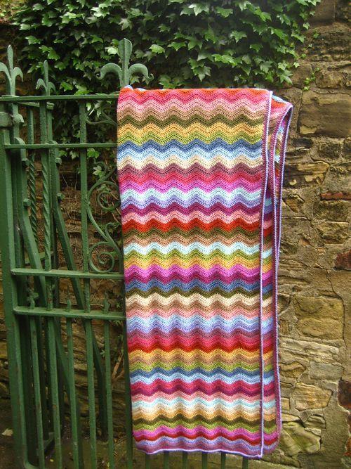 Cottage Ripple blanket :: ta-dah! | Manta, Ganchillo y Mantas de bebes