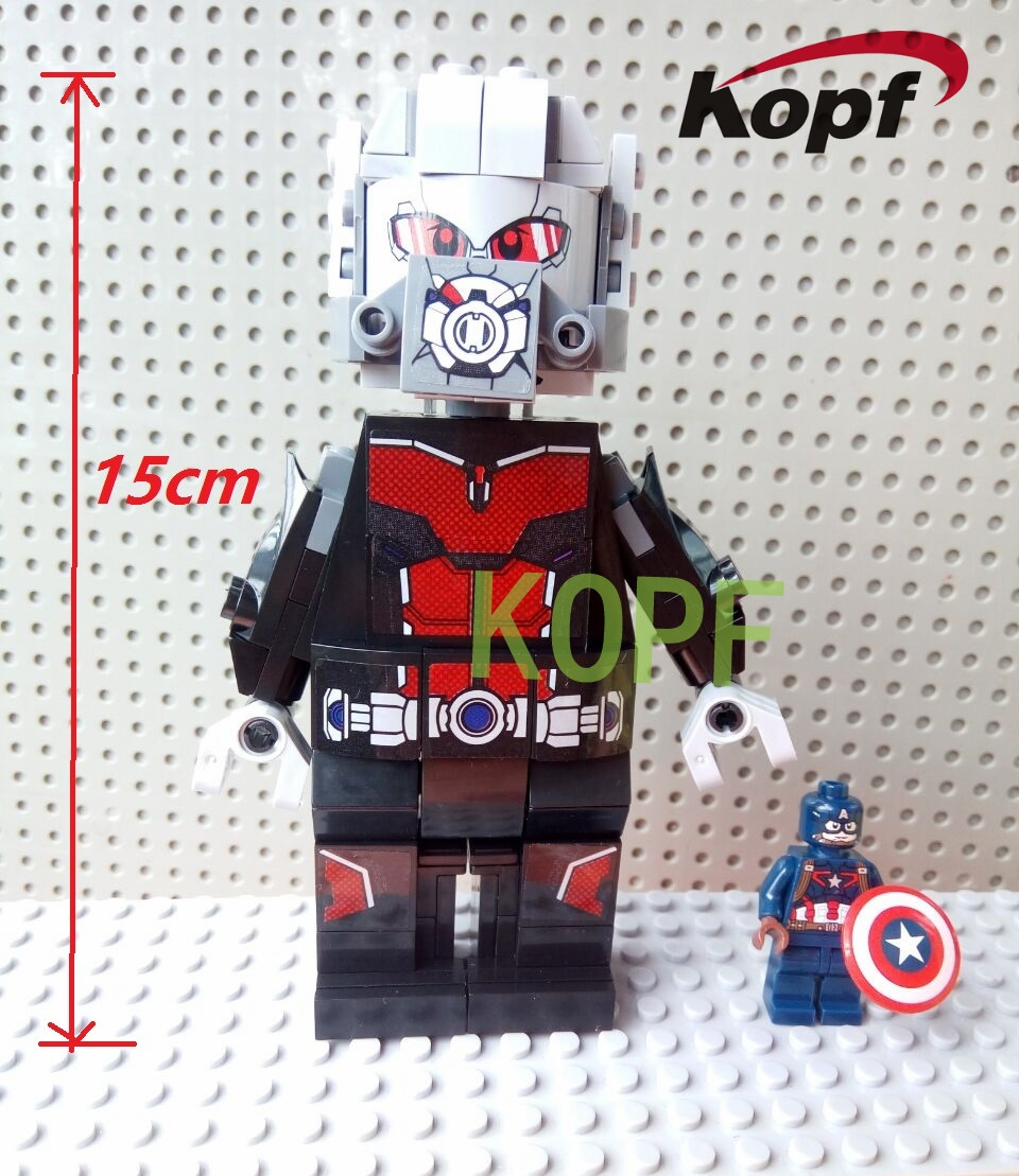 13.35$  Watch here - KF888 15CM Giantman Antman Building Block Toy Assemble Bricks sets Children's gift Super Heroes Figures Captain America XH PG  #SHOPPING