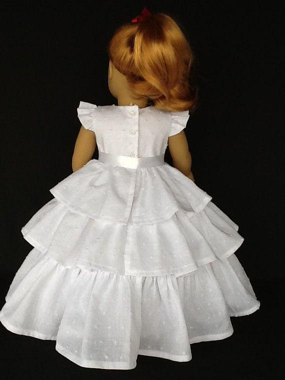 18 inch doll Retro ruffled dress. Fits American by ASewSewShop